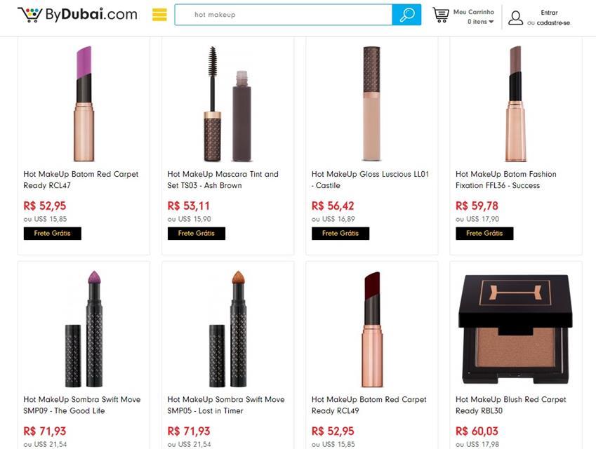 Recebidos da CellShop - produtos da Hot Makeup