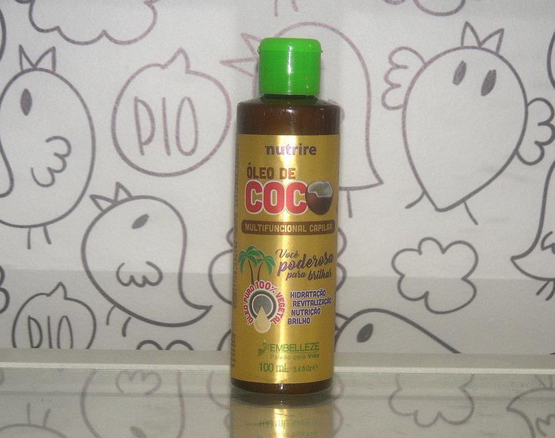 óleo de coco multifuncional capilar da embelleze