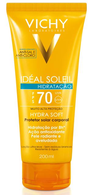 Vichy lança Idéal Soleil Hydrasoft FPS 70